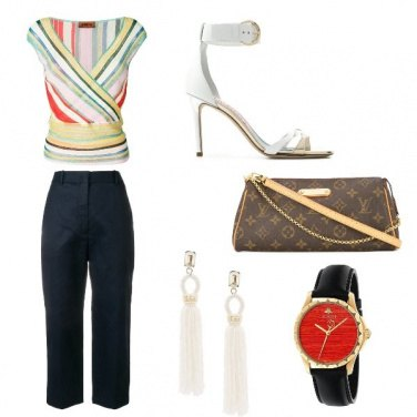 Outfit L\'orologio rosso