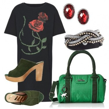 Outfit TSK Green and roses