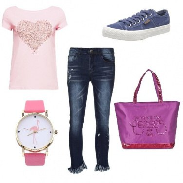 Outfit CMPS Ancora toni rosa
