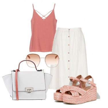 Outfit Rosa & bianco in vacanza
