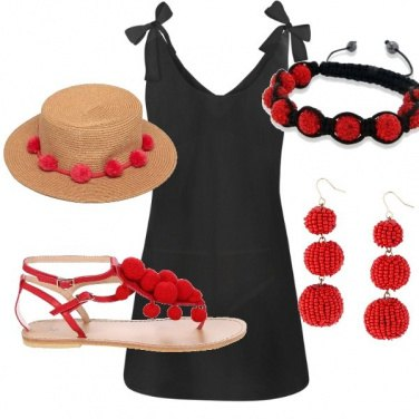 Outfit Pois rouge