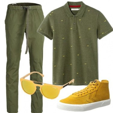 Outfit Natural green
