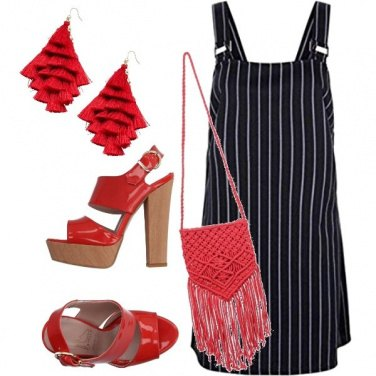 Outfit Red lines