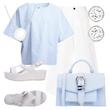 Outfit TSK Celeste in città