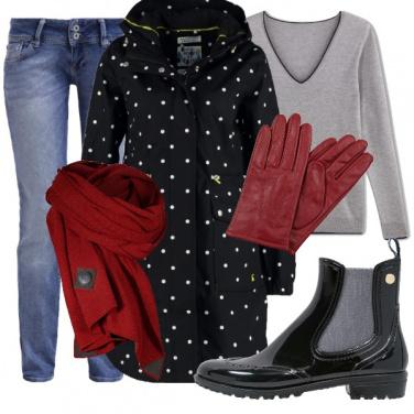 Outfit Pioggia d\'autunno