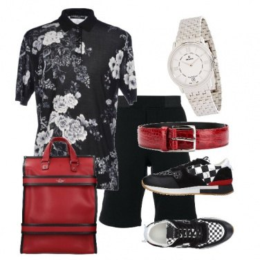 Outfit Il rosso e il nero