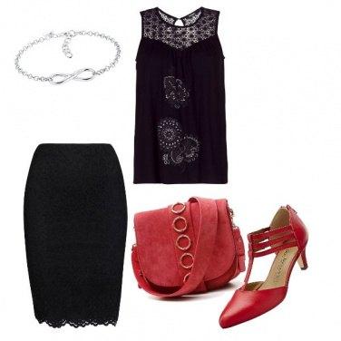 Outfit La scarpetta rossa