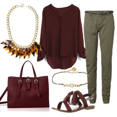 Outfit Bordeaux d'estate