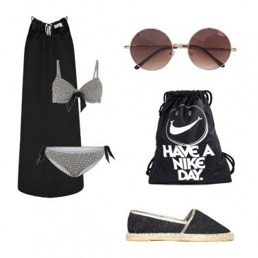 Outfit Spiaggia nera