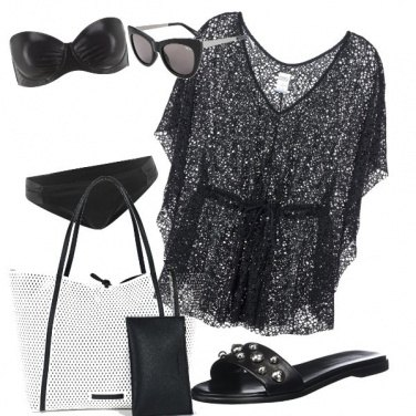 Outfit Beach Black chic