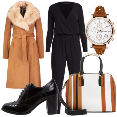Outfit Cappotto cognac
