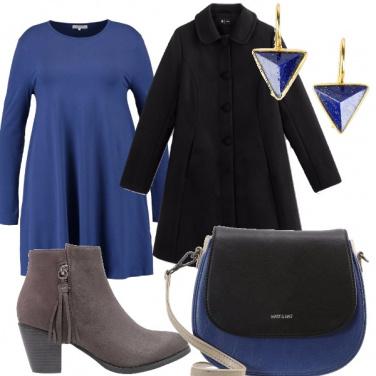 Outfit Blu cobalto e nero