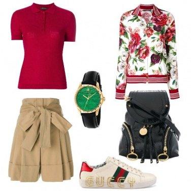 Outfit La felpa a fantasia floreale