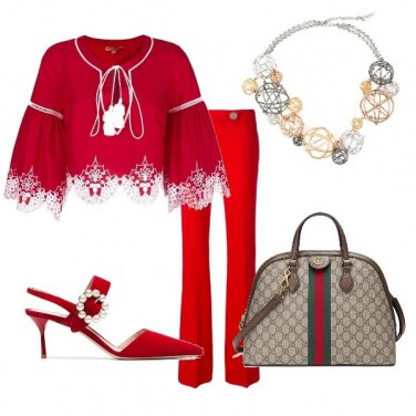 Outfit Woman in red