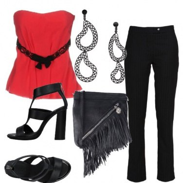 Outfit Black&red rock
