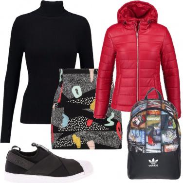 Outfit Passeggiata sotto la pioggia