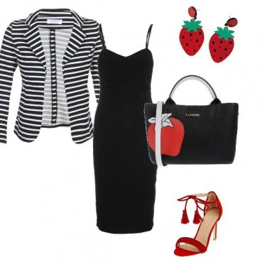 Outfit Righe e fragole