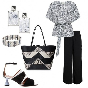 Outfit Black and white, chic a lavoro