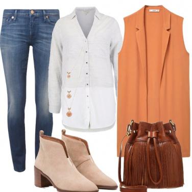 Outfit Un autunno a tutto salmone