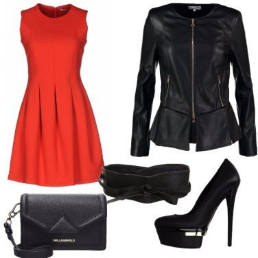 Outfit Passione rossa e nera