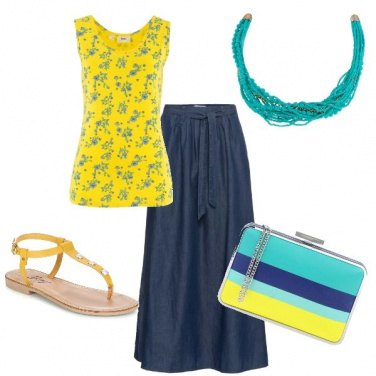Outfit Sole turchese