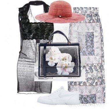 Outfit La borsa con i fiori bianchi