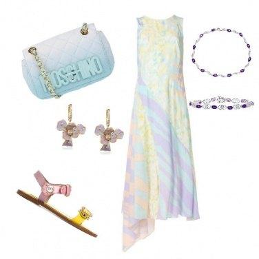 Outfit Regina arcobaleno