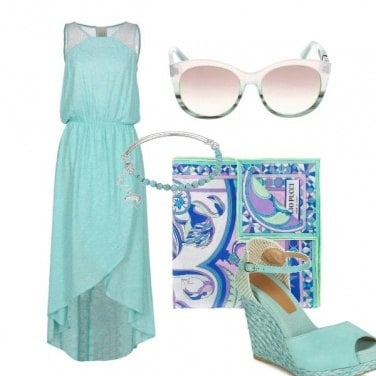 Outfit Mermaid blue outfit