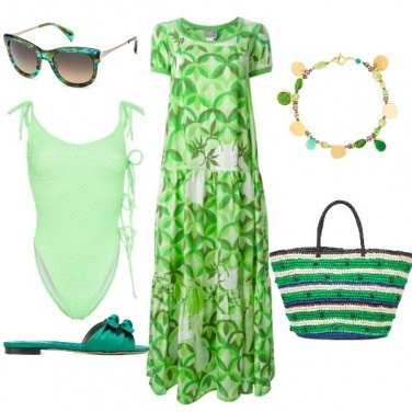 Outfit Lime beachwear