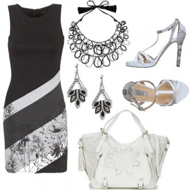 Outfit Desigual black and white