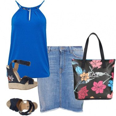 Outfit Borsa e scarpe a fiori