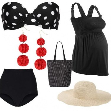 Outfit Premaman glam beach