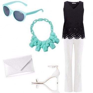 Outfit Azzurro Tiffany