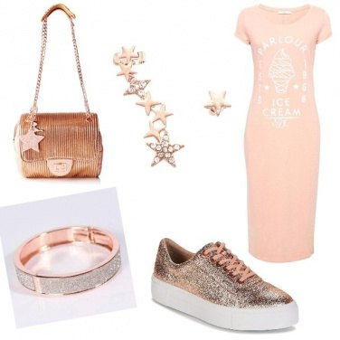 Outfit Shiny Pink