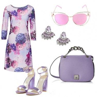 Outfit Viola porta fortuna