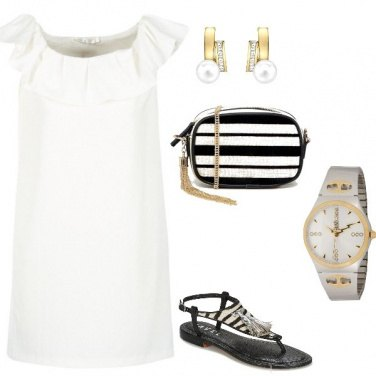 Outfit Bianco nero giorno