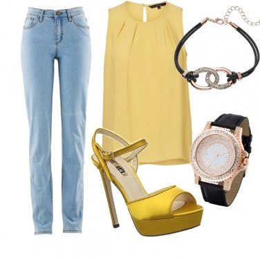 Outfit Giallo estate