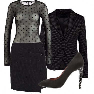 Outfit Nero a pois