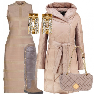 Outfit In cipria e soffice