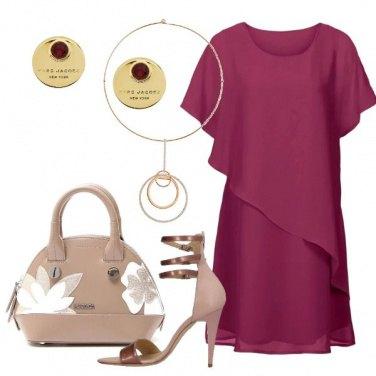 Outfit Splendida con il vestito magenta