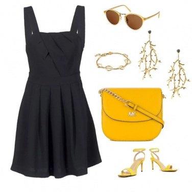 Outfit Gold di sera