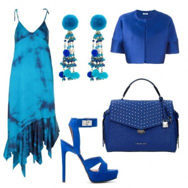 Outfit Blue reale e turchese