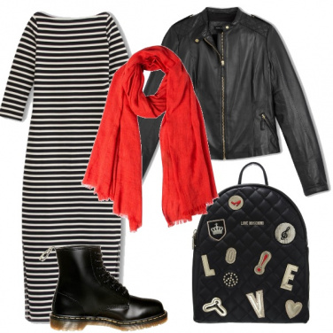 Outfit Righe casual