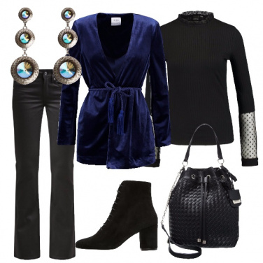 Outfit Velluto blu