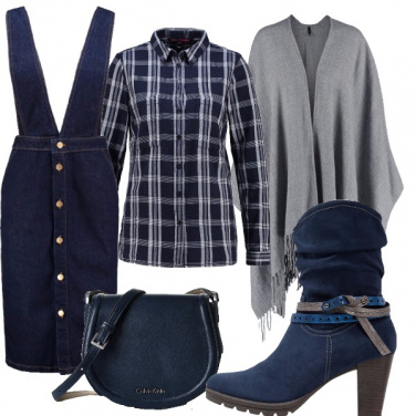 Outfit Salopette in stile country