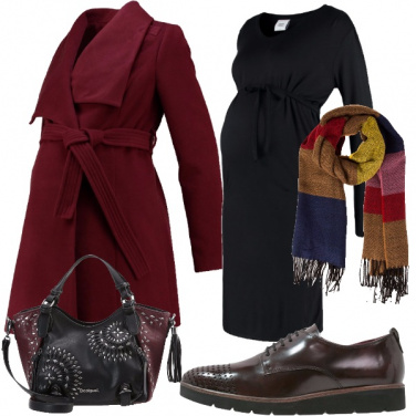 Outfit Quasi mamma in bordeaux