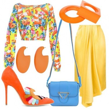 Outfit Blusa in stile pop art
