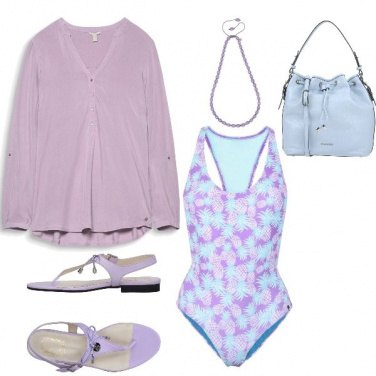 Outfit Ananas viola look