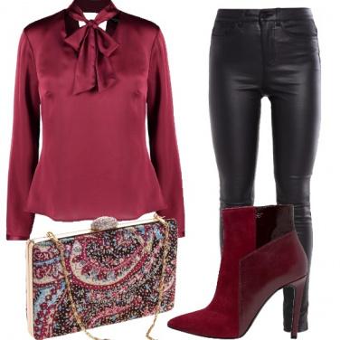 Outfit Rock in bordeaux