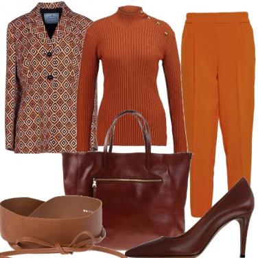 Outfit Ruggine e geometrie